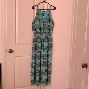 Enfocus Studio Blue Floral Print Dress